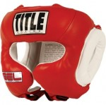 Шлем боксерский Title Gel World Traditional Training Headgear GTTHG кожа